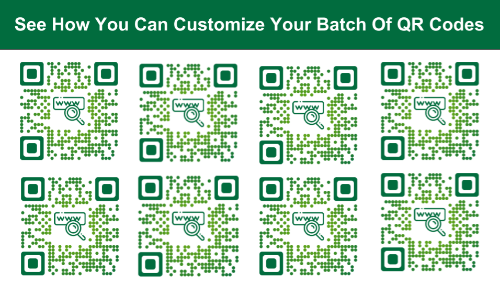 bulk QR Code generator with logo: custom batch