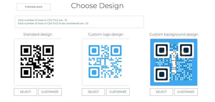 Random code QR Codes: customize your QR Codes
