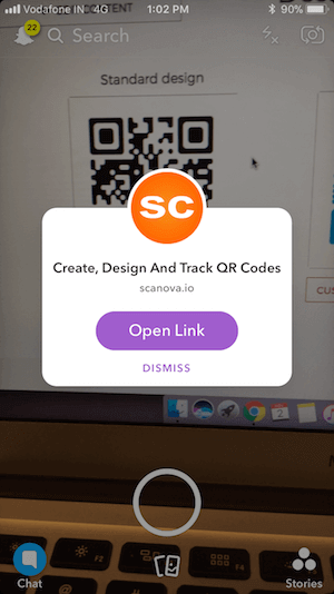 qr code scanner iphone android snapchat