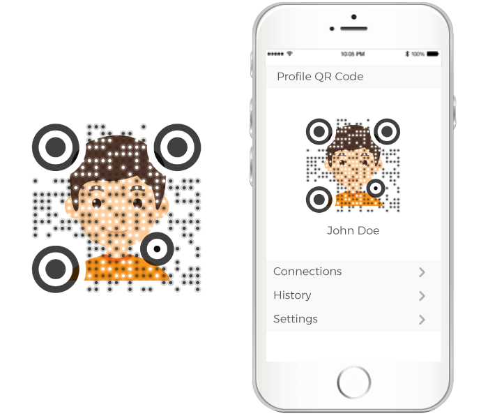 qr code sdk background design