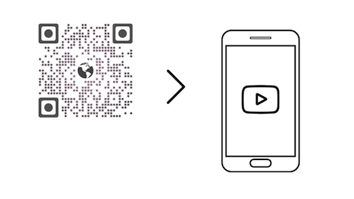 link QR codes to multimedia content