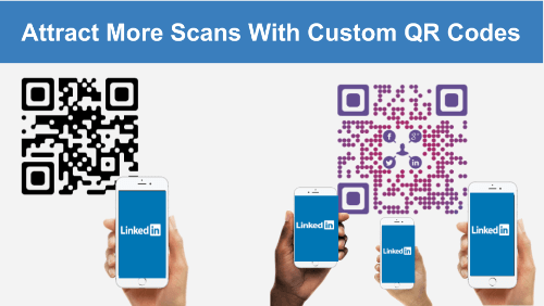 how to make a custom qr code: standard vs custom qr code