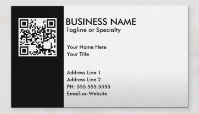 how to use qr codes: business card