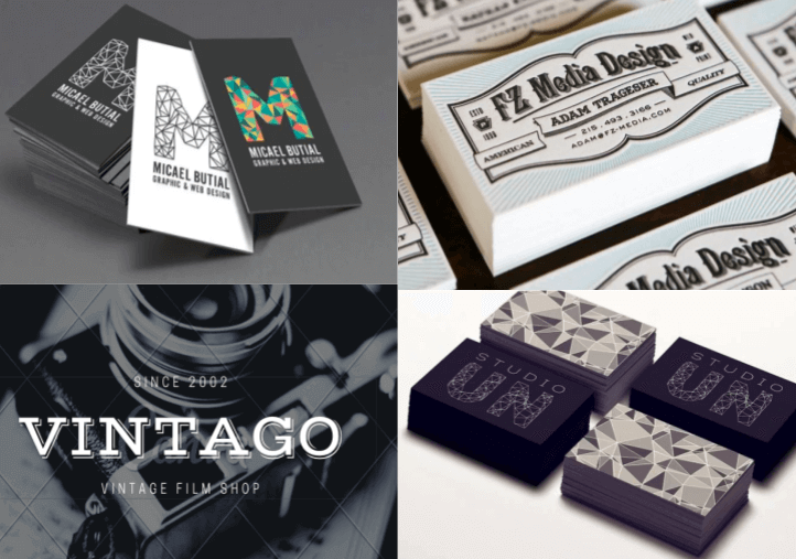 visiting card design: unique typography