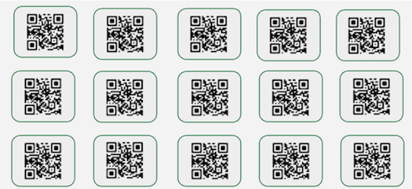 Static QR Codes in bulk