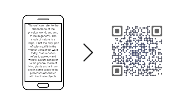 text QR Code: convert text to QR Code easily