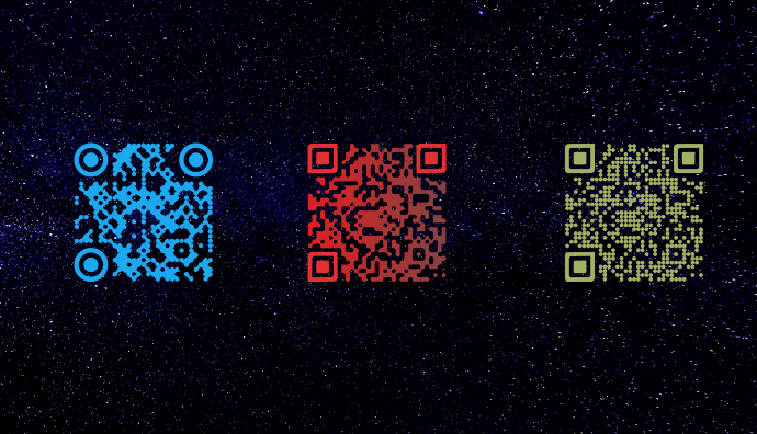 QR Codes with transparent background